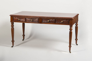 COLONIAL CARVED MAHOGANY SIDEBOARD