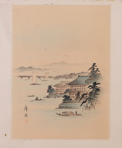 JAPANESE SCHOOL: GROUP OF SIX JAPANESE WORKS