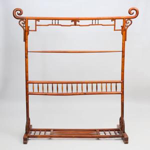 Chinese Carved Hardwood Kimono Stand