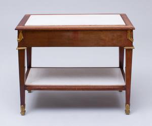 LOUIS XVI STYLE ORMOLU-MOUNTED MAHOGANY SIDE TABLE