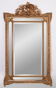 VICTORIAN GILTWOOD AND COMPOSITION MIRROR