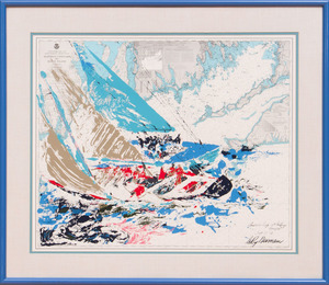 AFTER LEROY NEIMAN: AMERICA'S CUP 19TH CHALLENGE; AND UNTITLED (GOLFER)