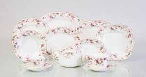 MINTON TRANSFER PRINTED PORCELAIN PART SERVICE IN THE 'ANCESTRAL' PATTERN