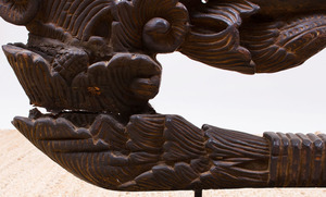 THAI CARVED WOOD ARCHITECTURAL FRAGMENT