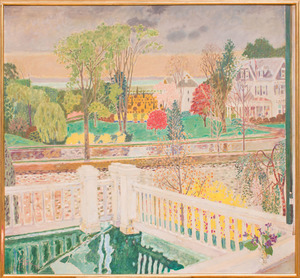 GEORGE STAVE (1923-2011): VIEW FROM THE TERRACE
