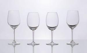 SET OF THREE BACCARAT WHITE WINE GLASSES