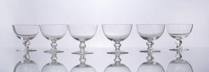 SET OF SIX GLASS SORBETS