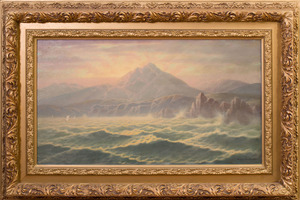 AMBROSE MACNEIL (1852 - ?): SUNRISE ON THE ISLE OF MULL