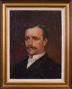 ATTRIBUTED TO EDGAR JULIAN BISSELL (1856-?): BUST OF A GENTLEMAN