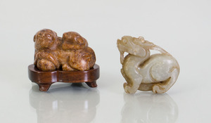 THREE CHINESE HARDSTONE OBJECTS