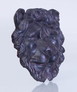 CAST-IRON BULLDOG-FORM BRACKET AND A CAST-IRON LION-FORM BRACKET