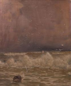 GEORGE W. CHAMBERS (1857-1897): SEASCAPE