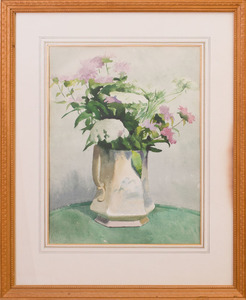 ALPHAEUS PHILEMON COLE (1876-1988): ASSORTED GARDEN FLOWERS