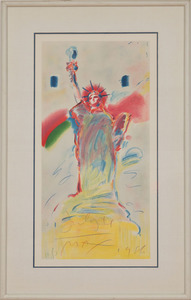PETER MAX (b. 1937): STATUE OF LIBERTY (RED); AND STATUE OF LIBERTY (BLUE)