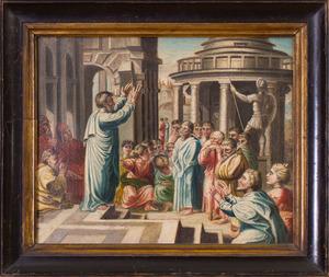 AMERICAN SCHOOL: SAINT PAUL PREACHING AT ATHENS