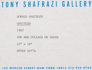 DONALD BAECHLER (b. 1956): UNTITLED