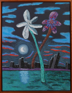 CARMEN CICERO (b. 1926): CROSSED FLOWERS