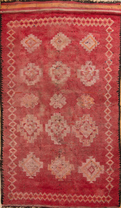 MOROCCAN ROSE-GROUND RUG