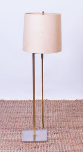 LAUREL CHROME AND BRASS ADJUSTABLE FLOOR LAMP