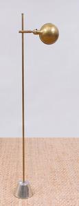 KOCH & LOWY BRASS AND CHROME 'PHARMACY' FLOOR LAMP