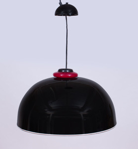 GLASS DOME PENDANT LIGHT, POSSIBLY BY VENINI