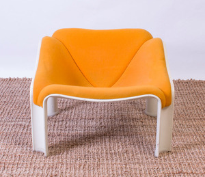 PIERRE PAULIN FIBERGLASS LOUNGE CHAIR FOR ARTIFORT 300