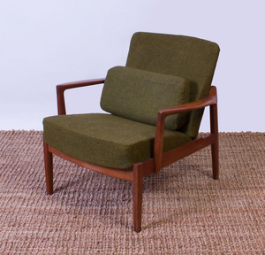 TOVE AND EDVARD KINDT-LARSEN TEAK ARMCHAIR FOR FRANCE AND SONS