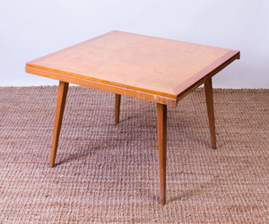 JENS RISOM OAK DRAW-LEAF DINING TABLE