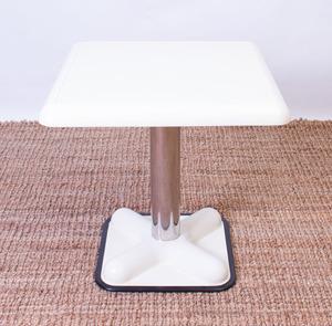 JOE COLOMBO PLASTIC AND CHROME 'BISTRO' TABLE FOR ZANOTTA