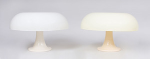 PAIR OF ARTEMIDE RESIN 'NESSO' TABLE LAMPS