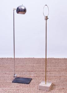 LAUREL FLOOR LAMP AND A SONNEMAN CHROME FLOOR LAMP