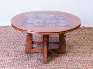 MAURICE PRE OAK LOW TABLE INSET WITH TILES