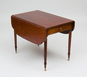 Federal Carved Mahogany Pembroke Table, New York