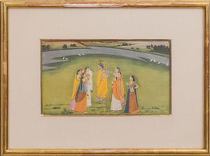 INDIAN SCHOOL: SET OF SIX SCENES OF KRISHNA