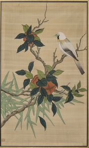 CHINESE SCHOOL: BIRD ON A BRANCH