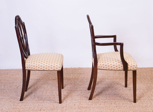 SET OF EIGHT GEORGE III STYLE MAHOGANY DINING CHAIRS