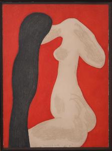 BARBARA KWASNIEWSKA (b. 1931): FEMME À LA TOILETTE