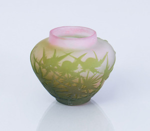 GALLE CAMEO GLASS BUD VASE