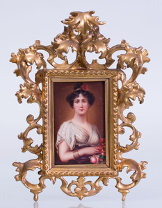 GERMAN PORCELAIN PLAQUE OF 'FLORA'