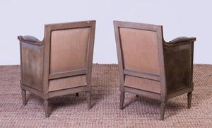 PAIR OF DIRECTOIRE STYLE PAINTED BERGÈRES