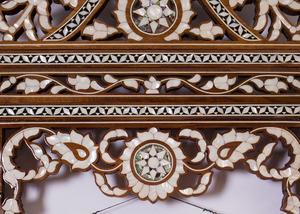 SYRIAN MOTHER-OF-PEARL INLAID MIRROR FRAME