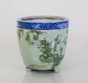 CHINESE PORCELAIN CELADON-GROUND JARDINIÈRE