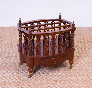 VICTORIAN STYLE ROSEWOOD CANTERBURY, MODERN