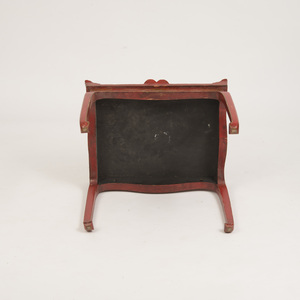 CHINESE RED PAINTED AND PARCEL-GILT SIDE TABLE