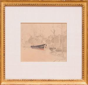 JOHAN-BARTHOLD JONGKIND (1819-1891): BATEAUX A QUAI