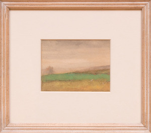 ATTRIBUTED TO JOHN FRANCIS MURPHY (1853-1921): LANDSCAPE AT DUSK
