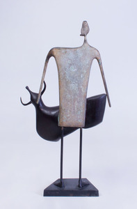 NIK PAN: UNTITLED (STANDING MAN WITH BULL)