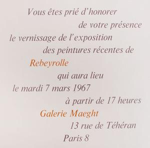 GALERIE MAEGHT EXHIBITION INVITATIONS