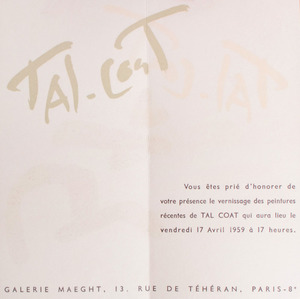 GALERIE MAEGHT EXHIBITION INVITATIONS