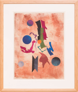 ROLPH SCARLETT (1881-1984): ABSTRACT COMPOSITION; AND ABSTRACT COMPOSITION